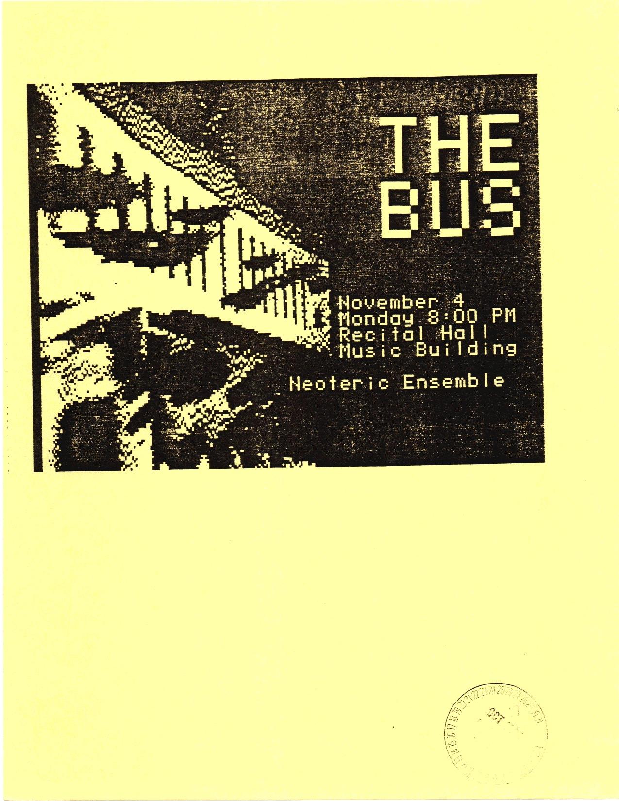 ArtBus poster 02, 1985