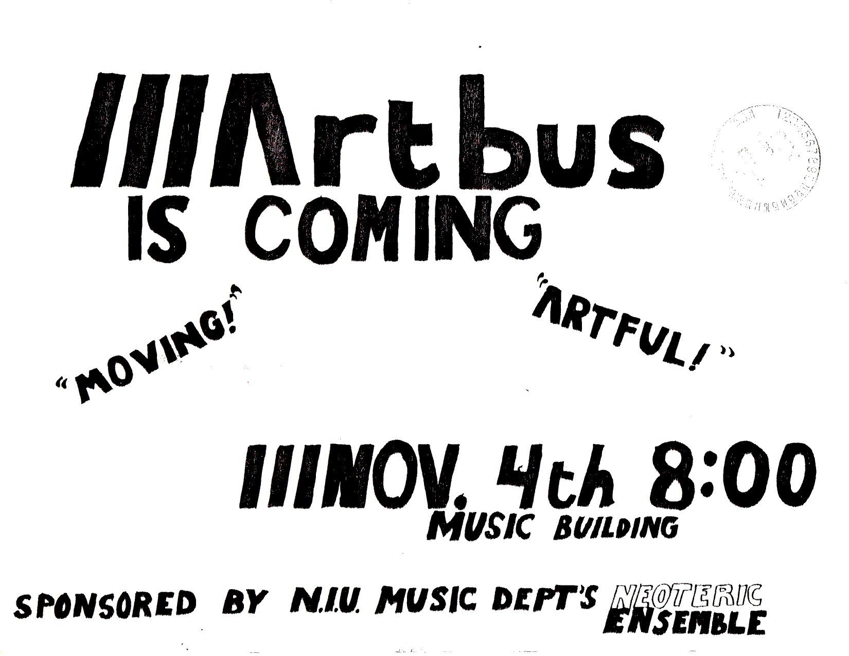 ArtBus poster 01, 1985
