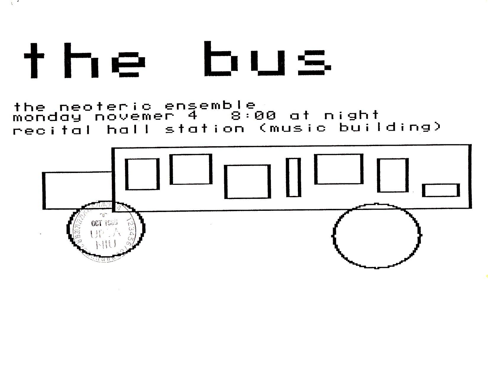 ArtBus poster 03, 1985