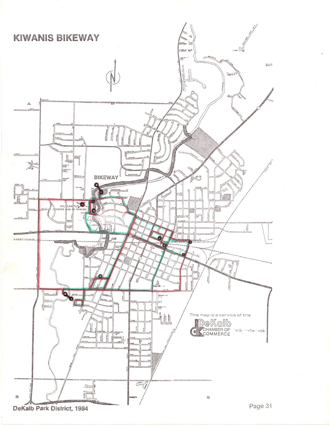 ArtBus route plan, 1985